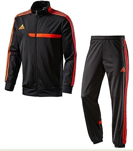 adidas Herren Präsentationsanzug Tiro13 PES Suit schwarz rot