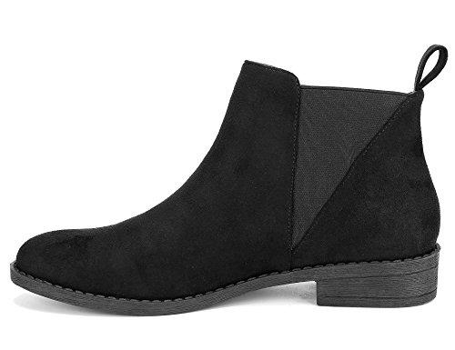 Block Botines Low Maxmuxun Negro Chelsea Mujer Zapatos w4qggUaAC