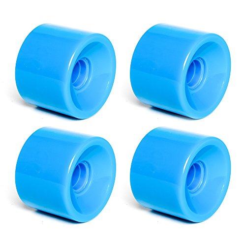 FREEDARE 70mm Longboard Wheels + ABEC-7 Bearing Spacers(Blue,Pack of 4)