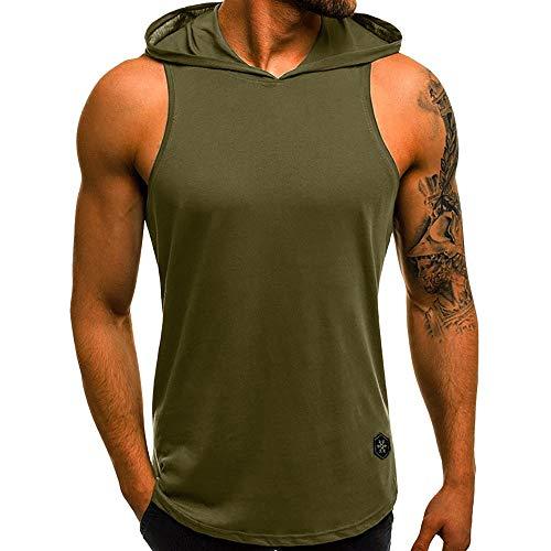 - MILIMIEYIK Blouse Tank Top Mens Slim Fit Basic Camouflage Print Short Sleeve T-Shirt Hoodie Shirt Zipper Vest with Pockets