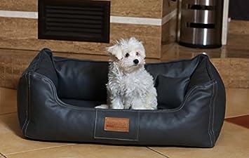 tierlando Cama para perro Maddox VITAL colchón cómodo, perro de piel sintética sofá para cesta para perro Talla M 80cm grafito-mn3-ll-02: Amazon.es: ...