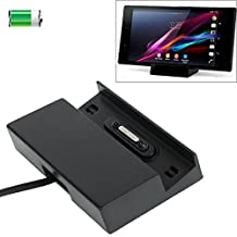 Iphone Case Cover, USB Desktop Magnetic Charging Dock for Sony Xperia Z3 / Xperia Z2 / Xperia Z1 / Xperia Z, with 4 Magnetic Stick Covers & Cable Case Mobile ( Color : Black )