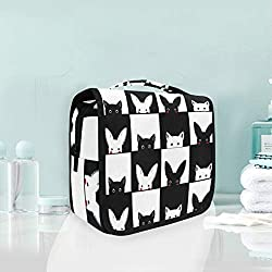 Toiletry Bag Funny Rabit With Cat Portable Makeup Storage Cosmetic Bag