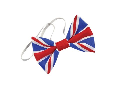 Great Fancy Costumes Dress Britain (Union Jack Cloth Dickie Bow)