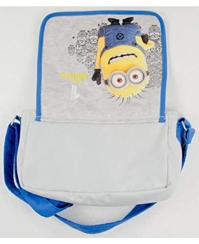Tasche für Kinder Kindergartentasche Minion Minions Tragetasche Umhängetasche für Kinder blau