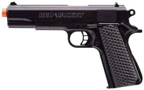 Red Jacket 1911 Airsoft Pistol with BBs, Black