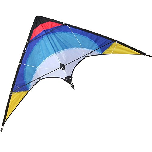 Hengda Kite-48 Inch Dual Line Stunt Kite For Kids and Adults, outdoor sports,Beach and Fun sport kite,Handle,Line,and Bag included