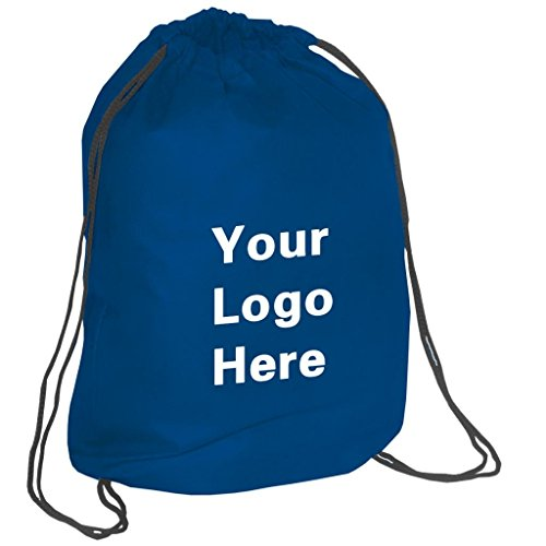 Non-Woven Promotional Drawstring Bag String Backpack - 14''w x 17''h- 100 Quantity - $1.87 Each -Promotional Products Bulk Custom Branded with YOUR LOGO for Free C2BPromo #C2BB0155-Navy by C2BPROMO.COM YOU PRICE IT. WE DELIVER IT.