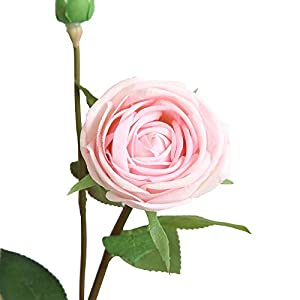 VOWUA Artificial Flower Full Bloom Rose Floral Wedding Silk Fake Flowers Bouquet Bridal Hydrangea Decor 53