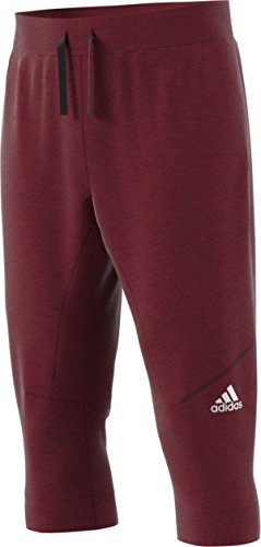 (adidas Cross-Up Three-Quarter Pant - Men's Basketball S Collegiate Burgundy/Maroon)