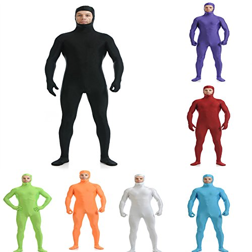 Pcongreat Pcongreat New Halloween Costume Accessories For Kids Adults Special Festival Offers Adult Lycra Solid Color Party Show Performance Wear Cosplay Costume Bodysuit Orange M -