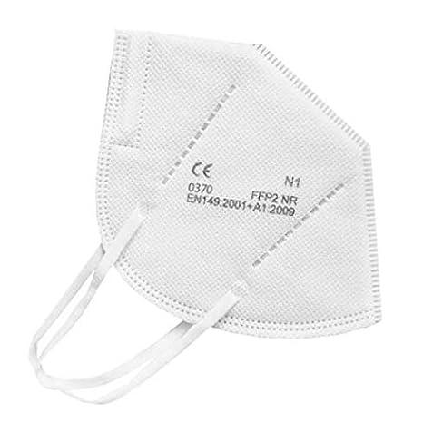 LEMESMO Mascarillas FFP2 Blancas Ultra Protección Homologadas. 5 capas. Certificado CE EN149:2001+A1:2009. Cajas de 20 unidades.