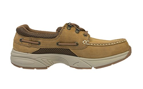 Rugged Shark Men's Classic Atlantic Casual Boat Shoe, Brown Copper, Size 8 to 13 Copper