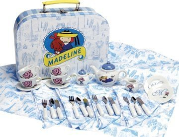 Schylling Madeline Tea Set and Cardboard Case