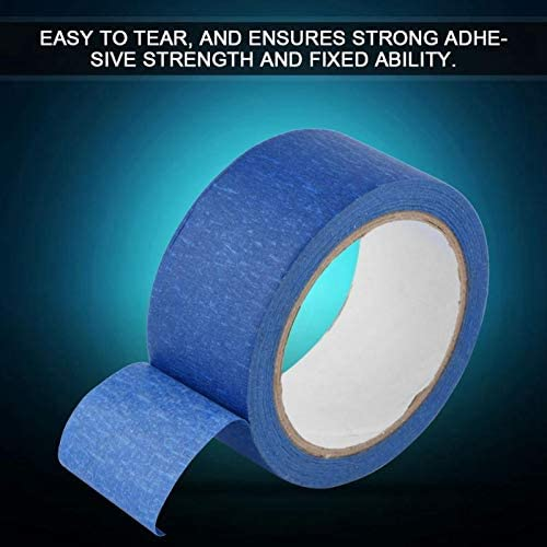 Cikuso Ruban De Masquage Adh/ésif Bleu R/ésistant 48Mm X 30M Papier Cr/êpe Chaleur pour LImprimante 3D Tra?Able,/étiquettes De V/êtements Enregistrables