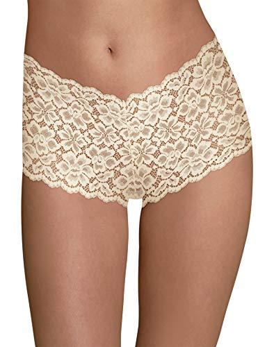 - Maidenform Women's Casual Comfort Cheeky Boyshort, Ivory, 5