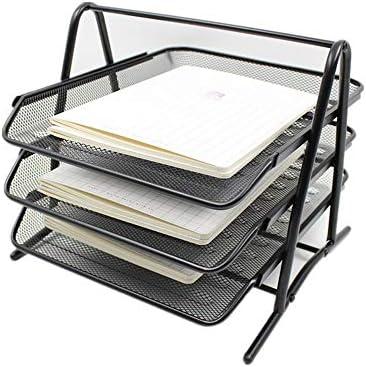 TEET Stehsammler DREI Eisennetzablage-Metallic-Eisennetz-Datenverwaltungsgestell Office Tabletop Organizer