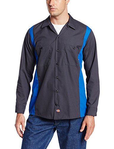 Dickies - Long Hommes manches Bk / Ch 2Tone Dow shirt, 3X-Large Tall, Black