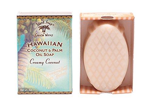 Island Soap & Candle Works Handmade Coconut Soap, - Bar Soap Hawaiian
