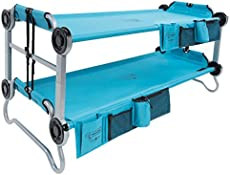 New Disc O Bed Youth Kid O Bunk with Organizers Teal Blue