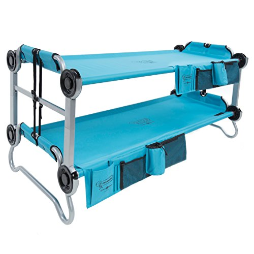 Disc-O-Bed Youth Kid-O-Bunk with Organizers, Teal Blue