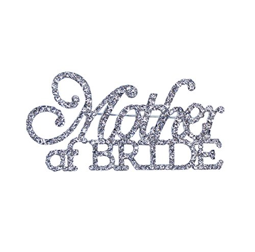 Unik Occasions Mother of the Bride & Mother of the Groom Rhinestone Pin Set in Silver by Unik Occasions (Image #1)
