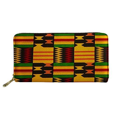 FANCOSAN Boho Women Men Wallet Long Zipper Ladies Cute Clutch Wallets Card Holder,Vintage Hippie Aztec Tribal -