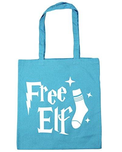 42cm x38cm Bag 10 Tote Free Blue Gym Beach HippoWarehouse litres Shopping Surf Elf 80nqA