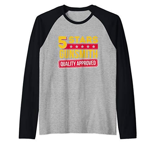 5 Stars Gunsmith - Funny Gunsmithing Gift Raglan Baseball Tee