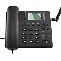 Desktop Wireless Telephone GSM Quadband Fixed Phone for Home and Office 2 Sim Card Desk Phone SMS Support Wireless Phone