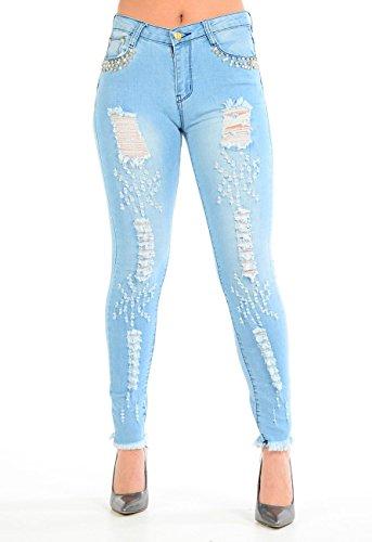 Jeans Wash Momo Fashions Light amp;ayat Donna gwEZq7E