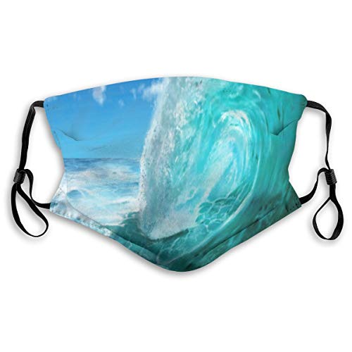 Dust Mask Digital Painting Ocean Wave Anti-dust Mouth Masks Respirator Reusable Cotton Breathable Safety Dust-proof Half Face Mask for Kids Boys Girls Running Cycling Travel Outdoor