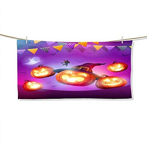 FootMarkhome Microfiber Beach Towel Halloween Celebration Fun Party