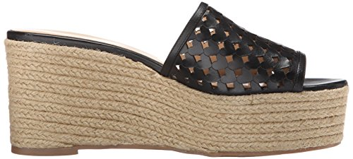 Ertha Women's West Sandal Wedge Leather Nine Black p7wHqn