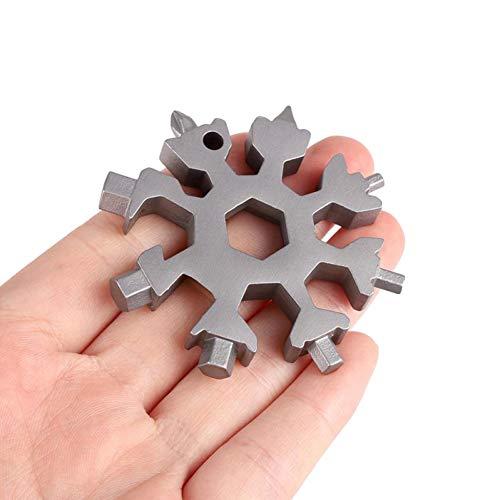 18 In 1 Snowflake Multi-Tool, Screwdriver (Amenitee 15 In 1 Stainless Multi Tool)