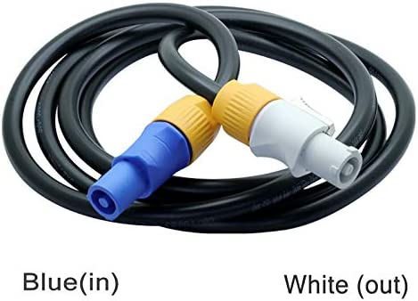 Color: Blue to White Gimax 5pcs 1.5M Aviation IP65 Waterproof Powercon Plug Cable 20A LED Large Screen Powercon Cord w//High-power Flame-retardant Speakon
