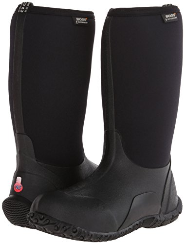 Bogs Classic No Handles Waterproof Insulated Rain Boot (Toddler/Little Kid/Big Kid),  Black, 3 M US Little Kid by Bogs (Image #6)