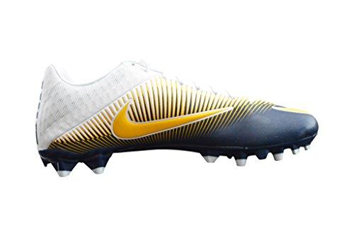 Nike Hommes Vapeur Vitesse Basse Td Moulé Football Cales Marine / Blanc / Jaune