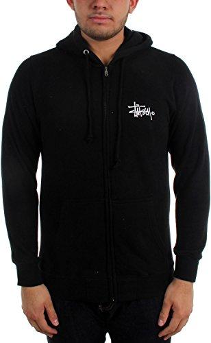 Stussy Mens Basic Logo Hoody Zip Sweatshirt X-Large Black