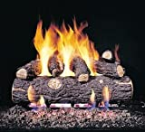 Peterson Gas Logs RDPG45-24 24in. Golden Oak Designer Plus G45 Burner 7 Log Set for Standard Fireplaces