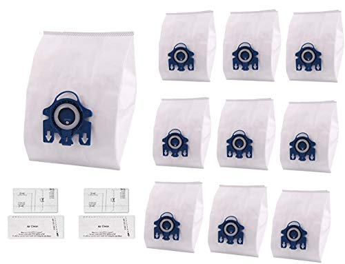 Neza 10 Packs Replacement Miele GN AirClean 3D Efficiency Dust Bags,GN Vacuum Bags,with 2 Motor Protection Filter,2 AirClean Filter
