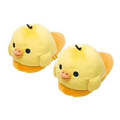 San-x Rilakkuma Kiiroitori Jumbo Plushy Slippers: Toys & Games