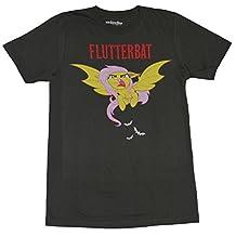 My Little Pony Mens T-Shirt - Flutterbat Flying Under Red Name