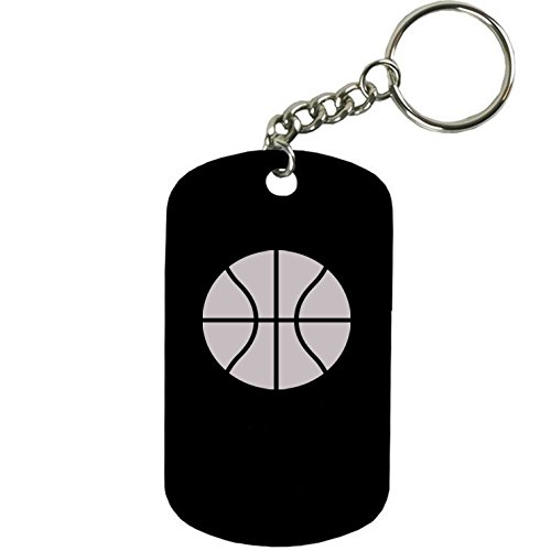 Personalized Basketball Keychains (Personalized Engraved Custom Basketball 2-inch Colored Anodized Aluminum Customizable Keychain Dog Tag,)