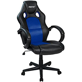 Merax Office Chair Executive Home Office Chair Racing Style Gaming Chair PU  Leather Swivel Computer and Office Desk Chair  blue Amazon com  Furmax Office Chair High back PU Leather Computer  . Office Racer Chair. Home Design Ideas