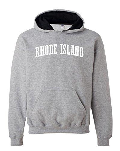 Ugo RI Rhode Island Providence Map Home of Rams University of Rhode Island Contrast Color Unisex Hoodie
