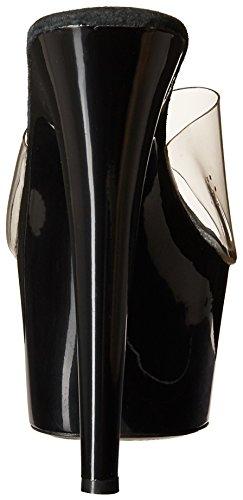 Scarpe Ellie Da Donna 709-vanity 7 A Punta Stiletto Mule Trasparente / Nero