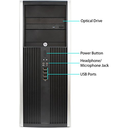 HP Compaq Elite 8000 Tower Computer PC (Intel Core 2 Duo 3.0GHz, 8GB Ram, 500GB HDD, WIFI ) Windows 10 Professional (Certified Refurbished)