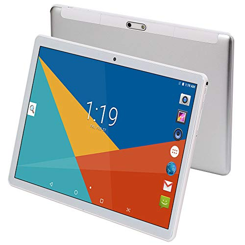 """Tablet 10 Inch (10.1""""),Android 8.1,4GB RAM,64GB Disk,GPS,WiFi,USB,1280X800 IPS Screen,Octa Core CPU,2+8 MP Camera Computer PC (Silver)"""