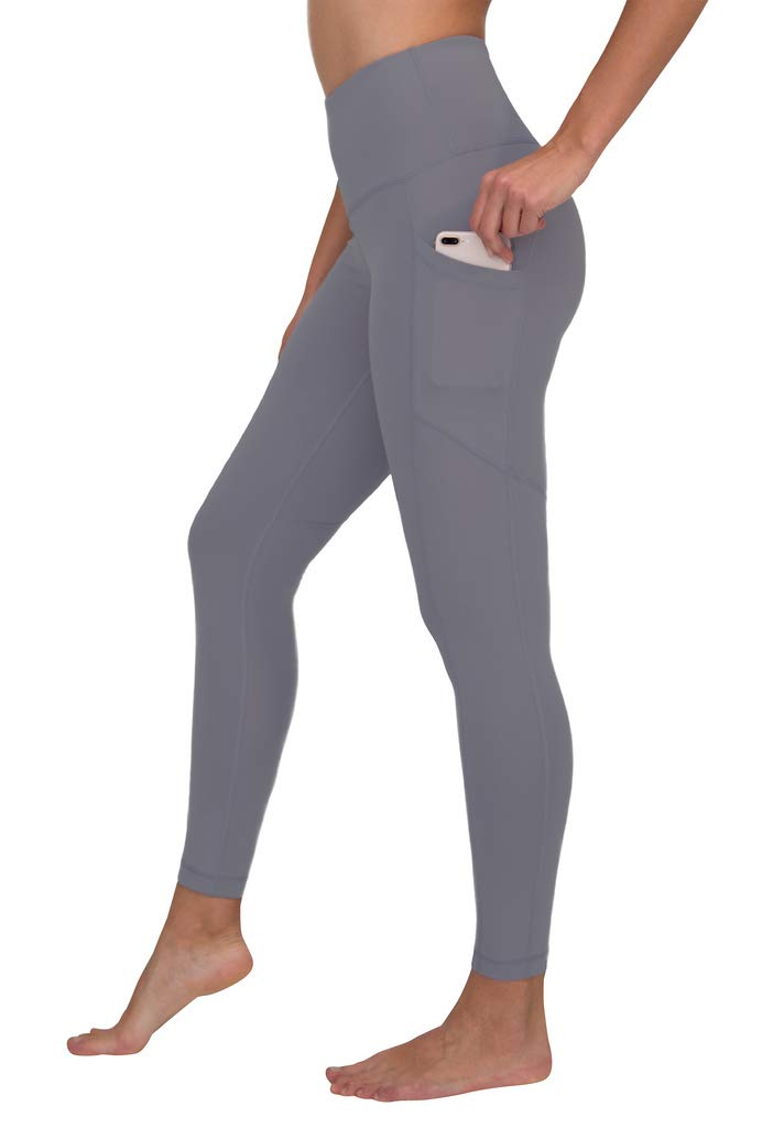 90 Degree By Reflex Women's Power Flex Yoga Pants - Grey Opal - Medium by 90 Degree By Reflex